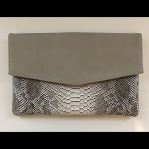 Urban Expressions Gray Animal Print Clutch